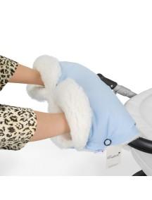 Муфта для рук на коляску универсальная Esspero Soft Fur Lux - Blue Mountain (голубой)