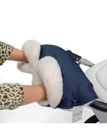 Муфта для рук на коляску универсальная Esspero Soft Fur Lux - Navy (синий)