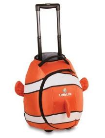 Чемодан LittleLife Рыбка-клоун оранжевый с белым