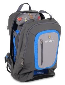 Рюкзак-переноска LittleLife Ultralight S3 серый с синим