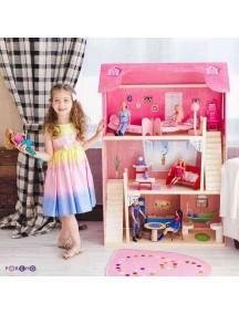 """Домик для Барби """"ВДОХНОВЕНИЕ"""" (2 лестницы, мебель), PAREMO"""