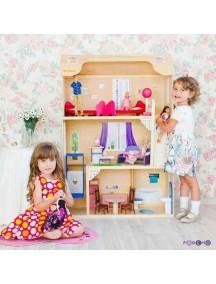 """Домик для Барби """"ГРАЦИЯ"""" (лифт, лестница, мебель), PAREMO"""