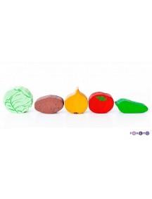 Игрушечная еда. Овощи - 5 предметов. PAREMO