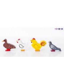Игровой набор. Птицы - 5 фигурок, PAREMO