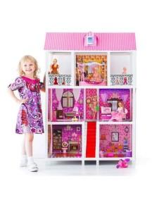 Дом для кукол Барби 5 комнат с лестницей и мебелью, Bettina
