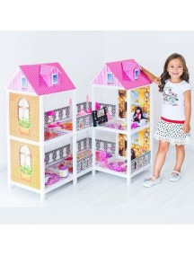 Дом для кукол Барби 2 этажа с переходами угловой (Z), Bettina