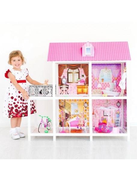 Дом для кукол Барби с 4 комнатами, PAREMO