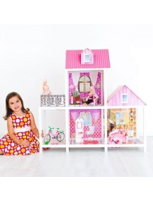 Дом для кукол Барби с 3 комнатами, PAREMO