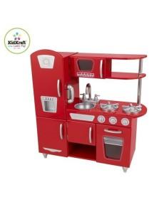 "Кухня ""ВИНТАЖ"", цв. Красный, KidKraft"