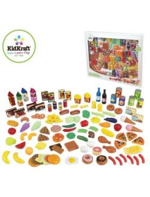"""Игровой набор еды """"ВКУСНОЕ УДОВОЛЬСТВИЕ"""", 115 элементов, KidKraft"""
