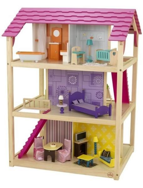 """Кукольный домик для Барби """"САМЫЙ РОСКОШНЫЙ"""", с мебелью 50 элементов, PAREMO"""