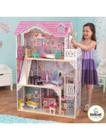 """Кукольные домик для Барби """"АННАБЕЛЬ"""", с мебелью 17 элементов, KidKraft"""