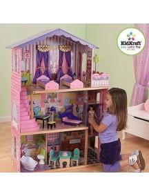 """Кукольный домик для Барби """"ОСОБНЯК МЕЧТЫ"""", с мебелью 13 элементов, KidKraft"""