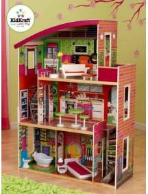 """Кукольный домик для Барби """"Дизайнер"""", с мебелью 11 элементов, KidKraft"""