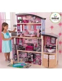 """Кукольный домик для Барби """"СИЯНИЕ"""", с мебелью 30 элементов, KidKraft"""