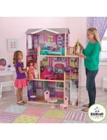 """Дом для кукол 40-46 см """"ИЗЯЩНОЕ ПОМЕСТЬЕ"""", с мебелью 12 элементов, KidKraft"""