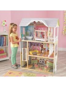 """Кукольный домик для Барби """"КАЙЛИ"""", с мебелью 10 элементов, KidKraft"""