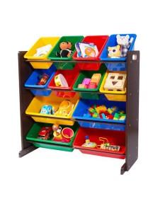 Стеллаж для детских игрушек Tottutors. Цвет ВЕНГЕ