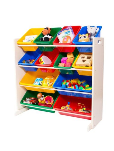 Стеллаж для детских игрушек Tottutors. Цвет Слоновая кость
