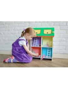 "Кукольный домик из картона ""Четыре комнаты"", размер 46х22х65 см"