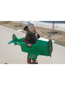 "Игрушка из картона ""Самолет на лямках"", / Картонный папа/ крафт размер 96х85х38 см"