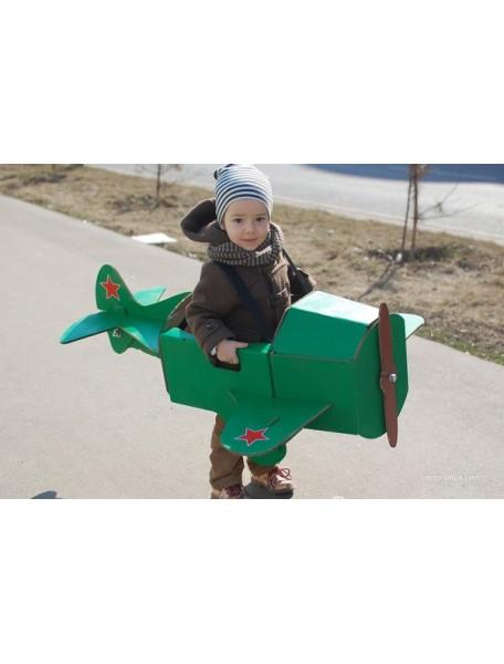 """Игрушка из картона """"Самолет на лямках"""", размер 96х85х38 см"""