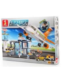 """Конструктор """"Аэродром"""", 678 дет., SLUBAN"""