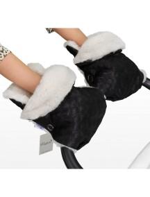 Муфта-рукавички для коляски универсальная Esspero Karolina - Black (черный)