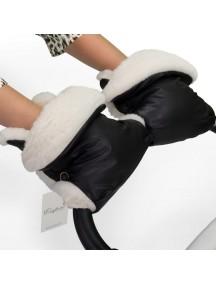 Муфта-рукавички для коляски универсальная Esspero Margareta - Black (черный)