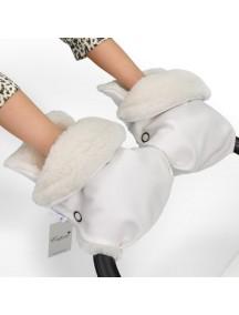 Муфта-рукавички для коляски универсальная Esspero Margareta - White (белый)