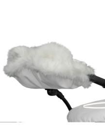 Муфта для рук на коляску универсальная Esspero Gentle Leatherette - White (белый)