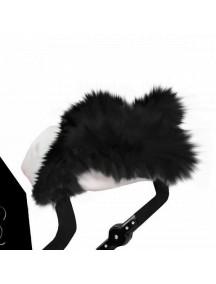 Муфта для рук на коляску универсальная Esspero LIT Leatherette - White-Black (белый-черный)