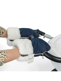 Муфта-рукавички для коляски универсальная Esspero Double White - Navy (синий)