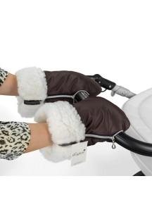 Муфта-рукавички для коляски универсальная Esspero Double White - Chocolate (шоколад)