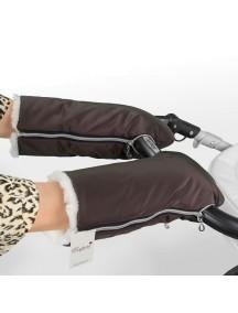 Муфта-рукавички для коляски универсальная Esspero Double White - Beige (бежевый)