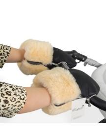 Муфта-рукавички для коляски универсальная Esspero Double Leatherette - Black (черный)
