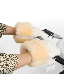 Муфта-рукавички для коляски универсальная Esspero Double Leatherette - Cream (кремовый)
