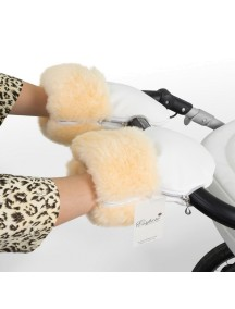 Муфта-рукавички для коляски универсальная Esspero Double Leatherette - White (белый)