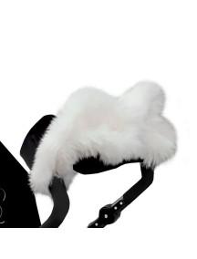 Муфта для рук на коляску универсальная Esspero LIT Leatherette - Black-White (черный-белый)