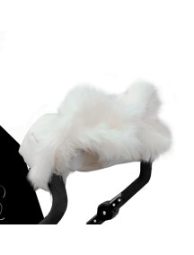 Муфта для рук на коляску универсальная Esspero LIT Leatherette - White (белый)