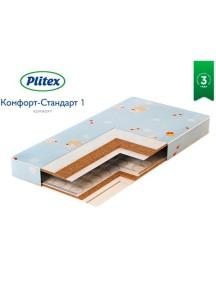 Матрас Plitex Комфорт-Стандарт 1 1190х600х120 мм