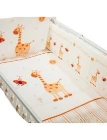 Комплект в кроватку Перина Кроха 4 предмета Жирафики Бежевый