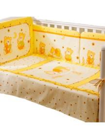 Комплект в кроватку Перина Ника 4 предмета Мишка на подушке Бежевый