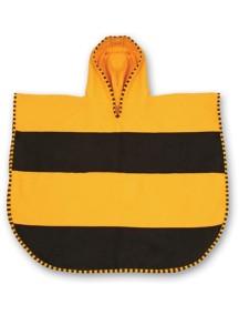 Пончо-полотенце LittleLife Пчелка Желтый с черным