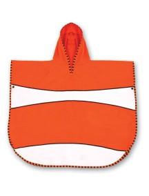 Пончо-полотенце LittleLife Рыбка-клоун Оранжевый с белым