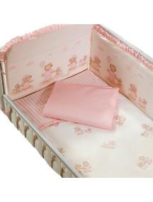 Комплект в кроватку Перина Тиффани 7 предметов Неженка Розовая