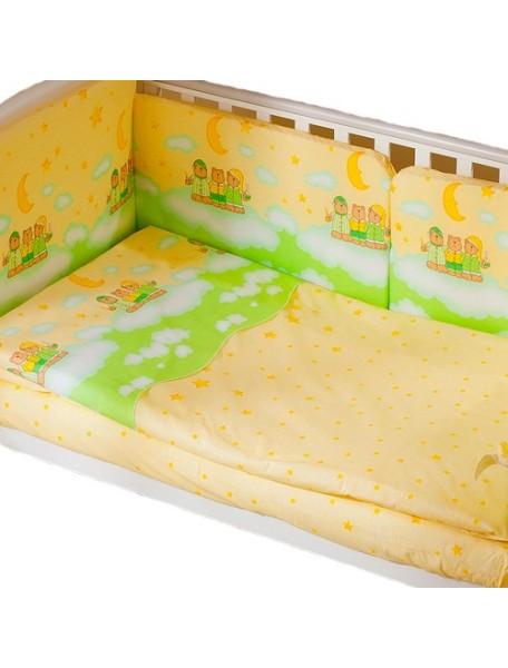 Комплект в кроватку Перина Аманда 3 предмета Ночка Салатовая