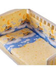 Комплект в кроватку Перина Аманда 3 предмета Ночка Голубая