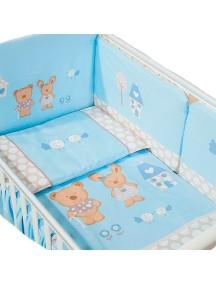 Комплект в кроватку Перина Венеция 3 предмета Лапушки Голубой