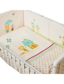 Комплект в кроватку Перина Глория 3 предмета Happy Days Бежевый